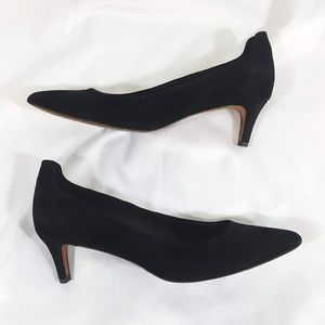 Donald J. Pliner Bari Leather Black Crepe Pump 9.5